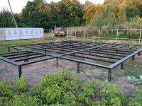 Фундамент на винтовых сваях для дома из газобетона